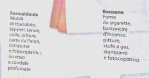 formaldeide e benzene
